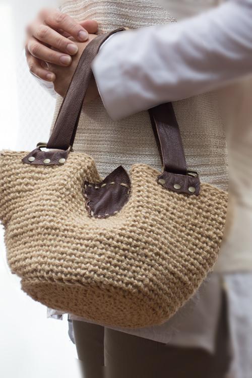 ショルダーバッグ とバッグの2way夏の麻バック
