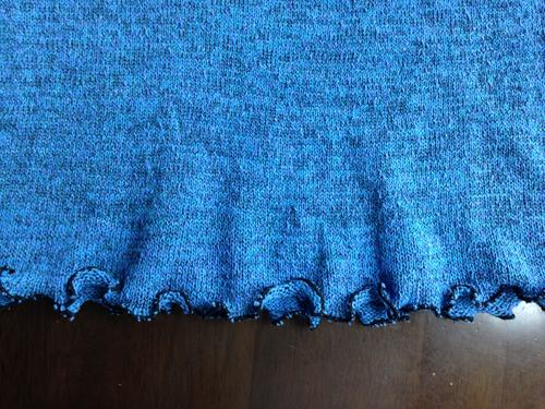 チュニックワンピ裾のフリル