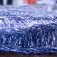 ニット帽編み地