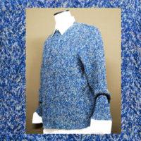 年末年始の紳士のおしゃれは、濃紺ミックス棒針編み紳士セーター