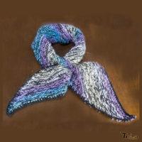 マフラー・シルク カシミヤの混 斜め編み