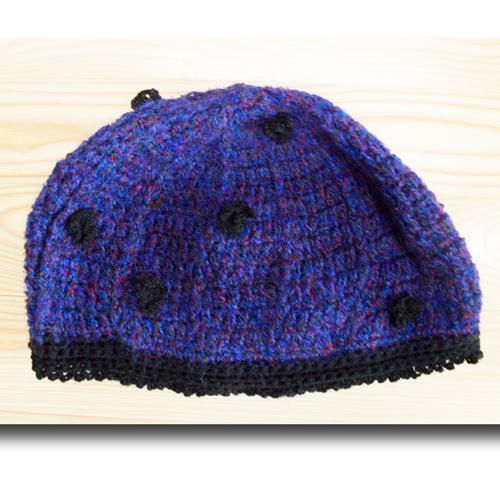 平置きのニット帽