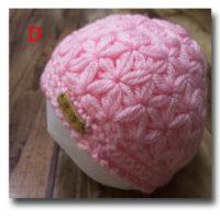ベビーニット帽リフ編み
