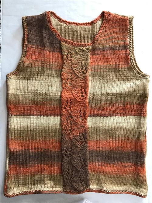 オーダーの7手編みベスト