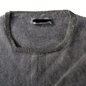 襟は別の糸で編みなおしました。