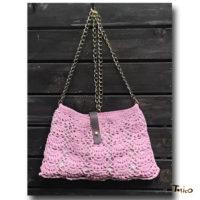 パイナップル編みの横掛けバッグ