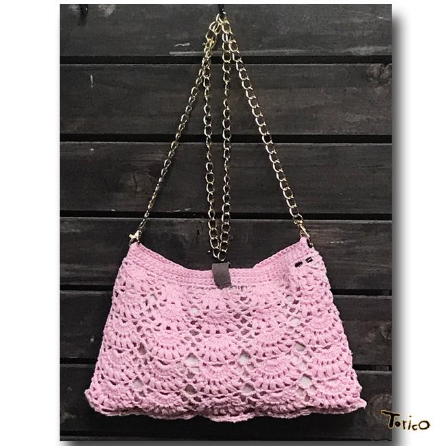 パオナップル編みの横掛けバッグ