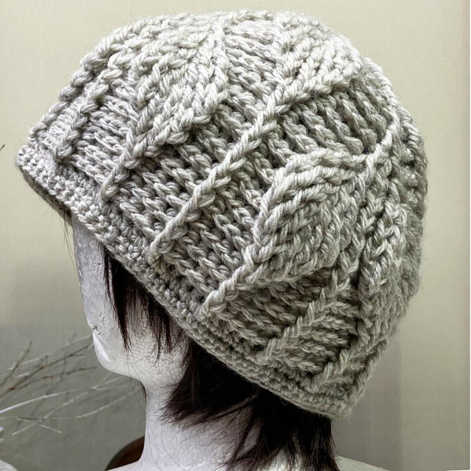 かぎ針編みニット帽