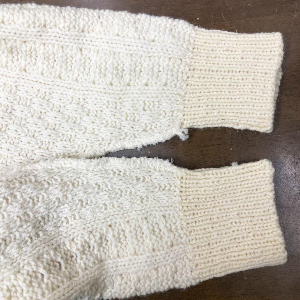 既製品のセーターのお直し3